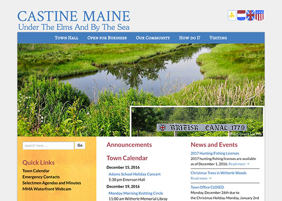Town of Castine Maine tourism and municipal website